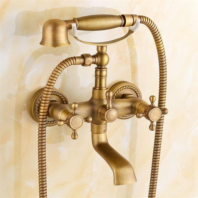 Antique Copper Bathtub Faucet Shower Faucet Bathroom Faucet Triple