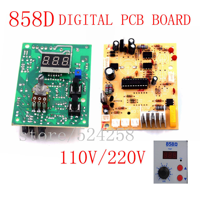 220v Digital display desoldering circuit IC pull  Heat gun control panel 858d circuit PCB board temperature control board