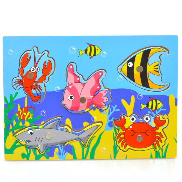 New Wooden Magnetic 3D Jigsaw Children Educational Fishing Puzzles Baby Toys Wooden Funny Game Toy For Kids Baby Gifts BM88 2
