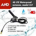 Envío gratis 1 unids lte antena impermeable, 4G antena exterior, antena de 2 m de largo cable SMA macho conector