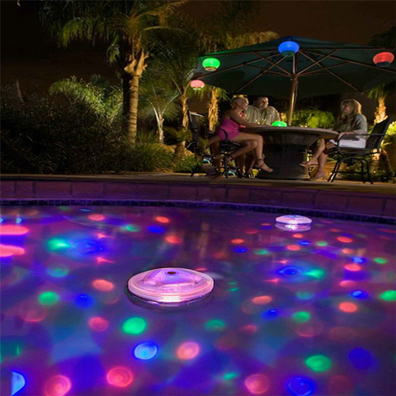 Battery Powered Underwater Fountain Light Disco Spa Bathtub Light Swimming Pool Float Lamp LED Light Children's Pool Light