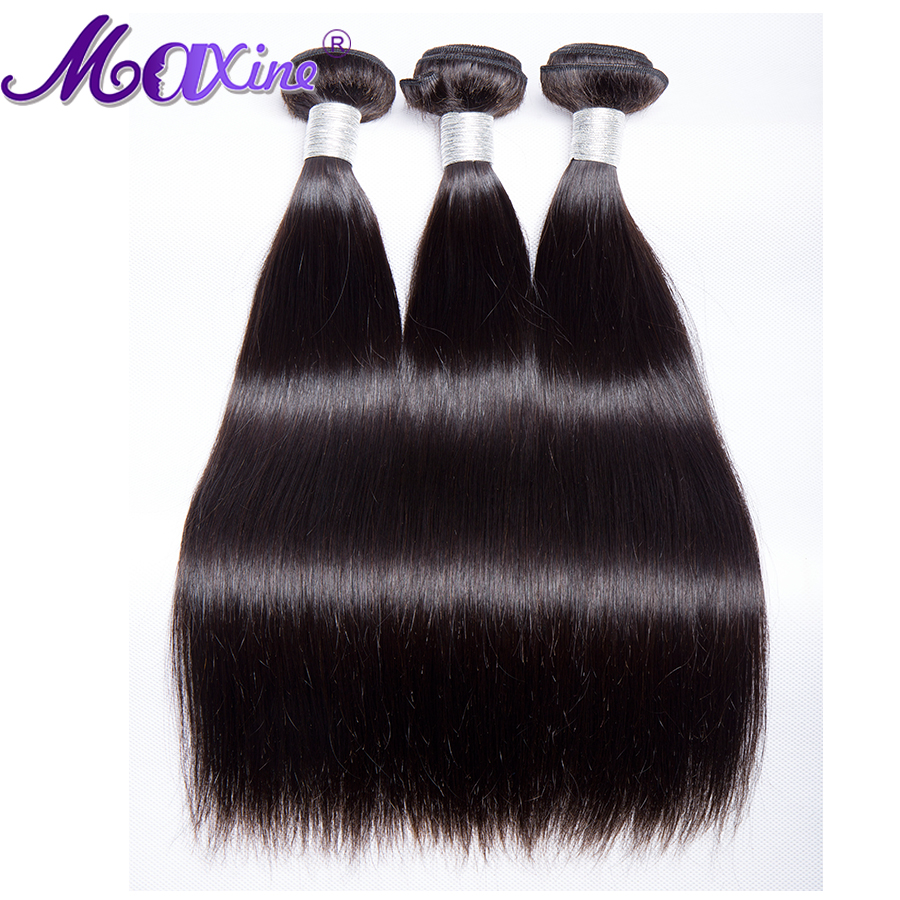 Maxine Hair Peruvian Straight 3 Bundles Deals 10 28 Mixed Inches Remy Hair Weave Extensions 100