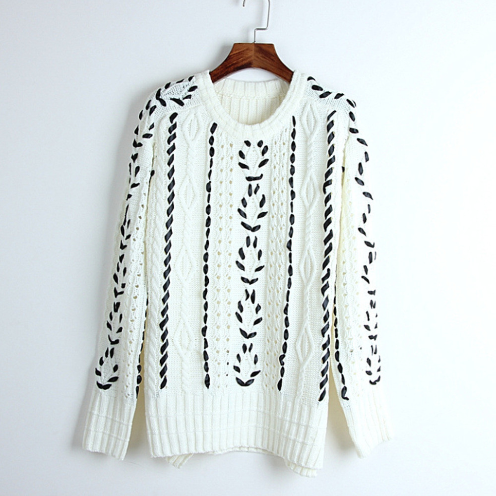 Jumper 2018 White Knitting Suéter Hollow Twist Mujer Grueso Grey Femme  Black Pull Hiver Suéteres Mujeres ... 75002273b61c