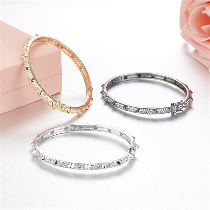 Bijoux de marque célèbre chaude pic bracelet rivets bracelet monaco bijoux 925 stelring argent
