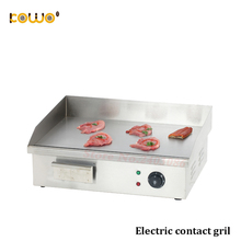 ce 3kw electric flat plate contact grill 550x420x220mm