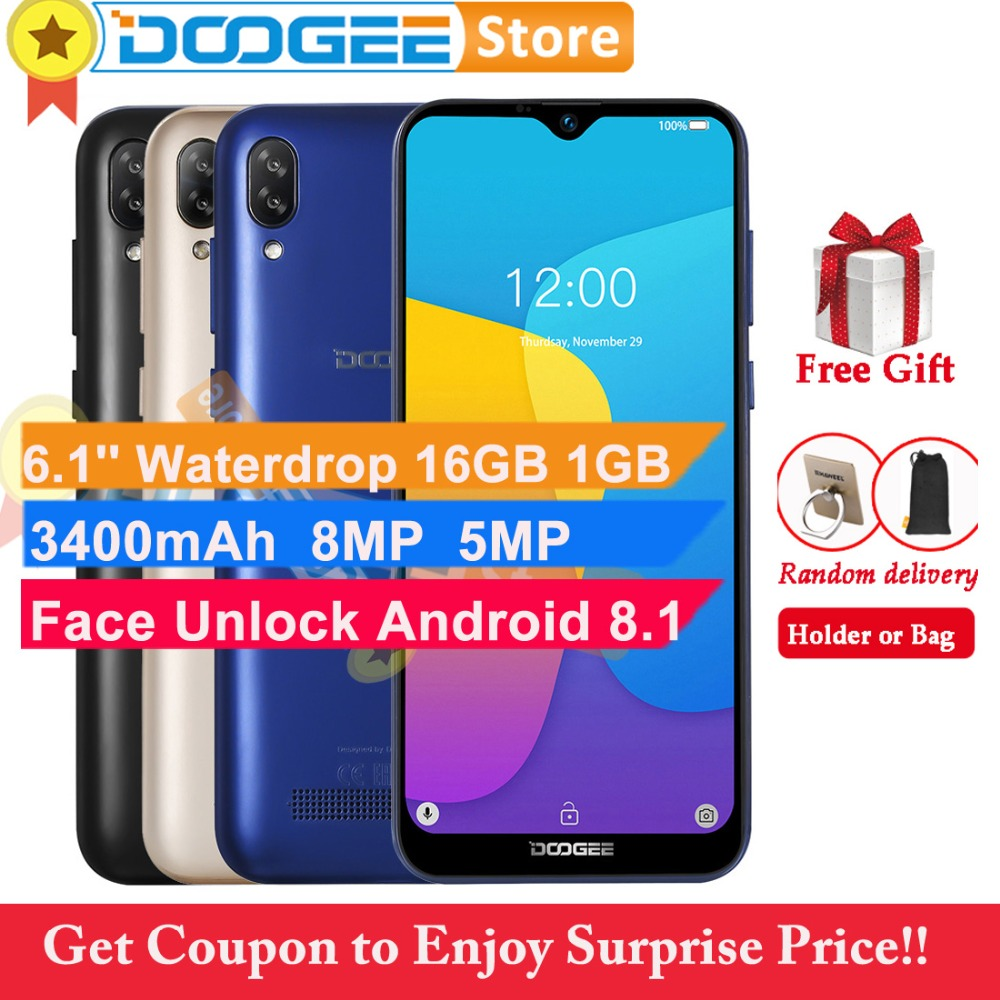 Doogee Y8C 16GB 1GB Android 8 1 Cell Phone Waterdrop Screen 6 1 19 9 Face