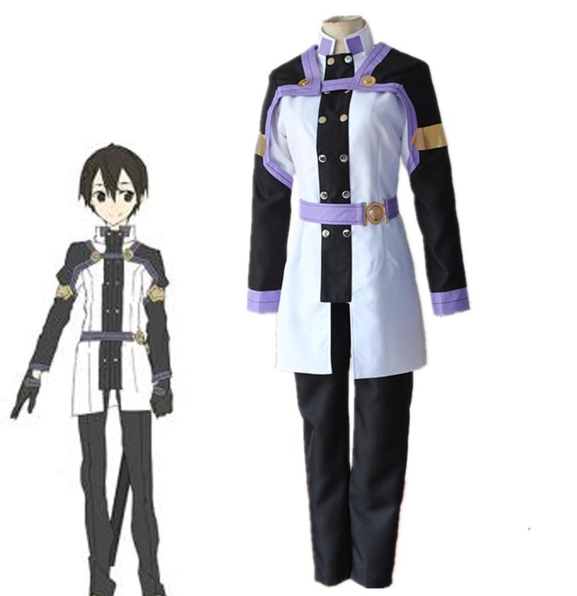 SAO Sword Art Online Ordinal Scale Kirigaya Kazuto Uniform Cosplay Costumes ALfheim Online Kirito Full Set Halloween Costume