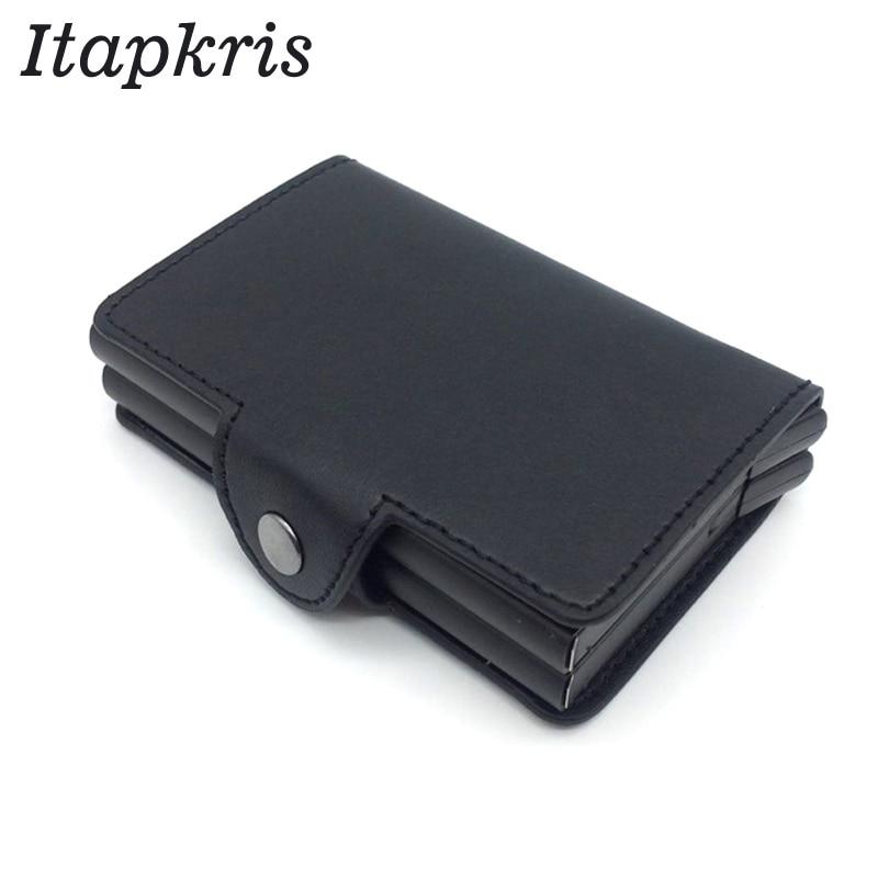 Men Automatic Credit Card Holder Travel Multi Pop up Blocking Protecting Money Change Case Aluminum Cover Porte Carte