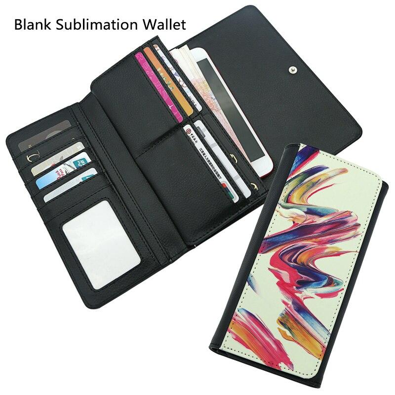 Hohe Qualität 2 teile/los Blank Sublimation Leder Geldbörse Frauen für Heiße transfer Druck Leder Fall Blank verbrauchs DIY