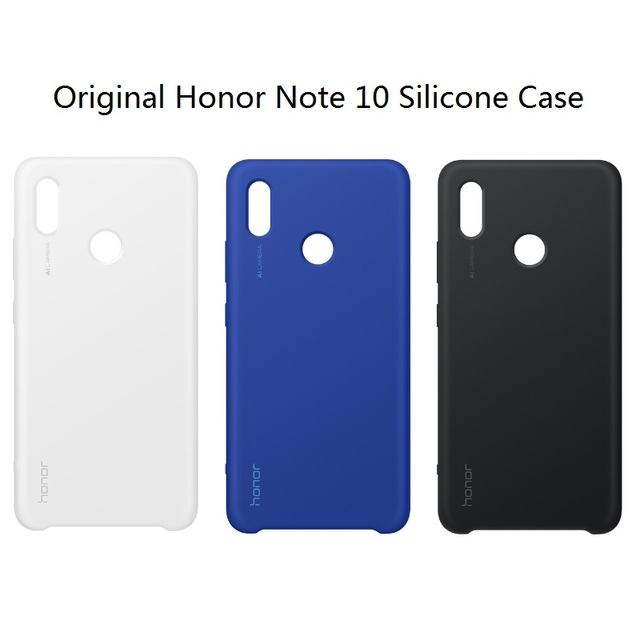 official photos 19357 95d37 US $17.99  100% Original Official Huawei honor note 10 case note10 silicone  Built in microfiber Shell for Huawei Silicon Protective Cover -in Fitted ...