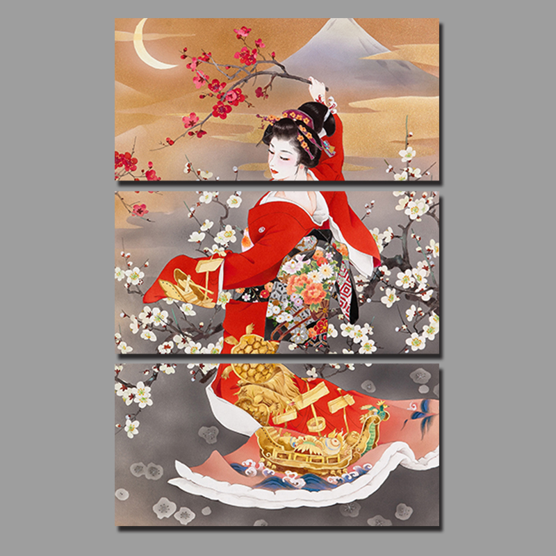 online kopen wholesale japanse bloem schilderij uit china japanse bloem schilderij groothandel. Black Bedroom Furniture Sets. Home Design Ideas