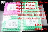 PET VET Medical Disposable PP Vacuum Suction Test Tube Heparin Lithium Sodium EDTAK3 Routine Blood Anticoagulant