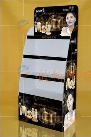 Pop Up Cardboard Display Stand For Slippers, Corrugated Paper Furniture Exhibition Booth Stand For Trade Show