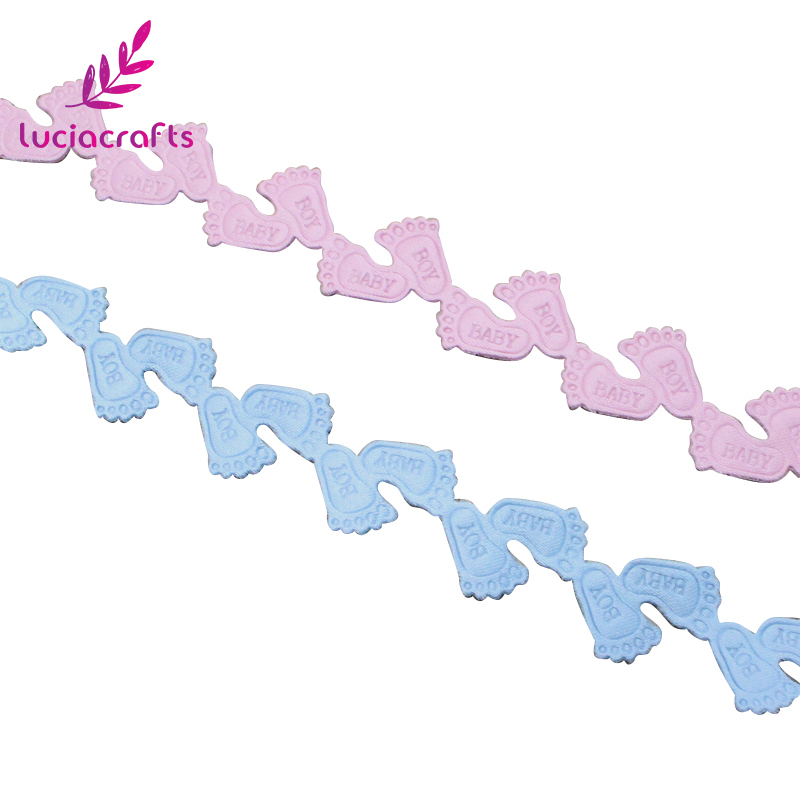 Pink /& Blue 15mm wide Cotton Precious Baby Ribbon 2 metres