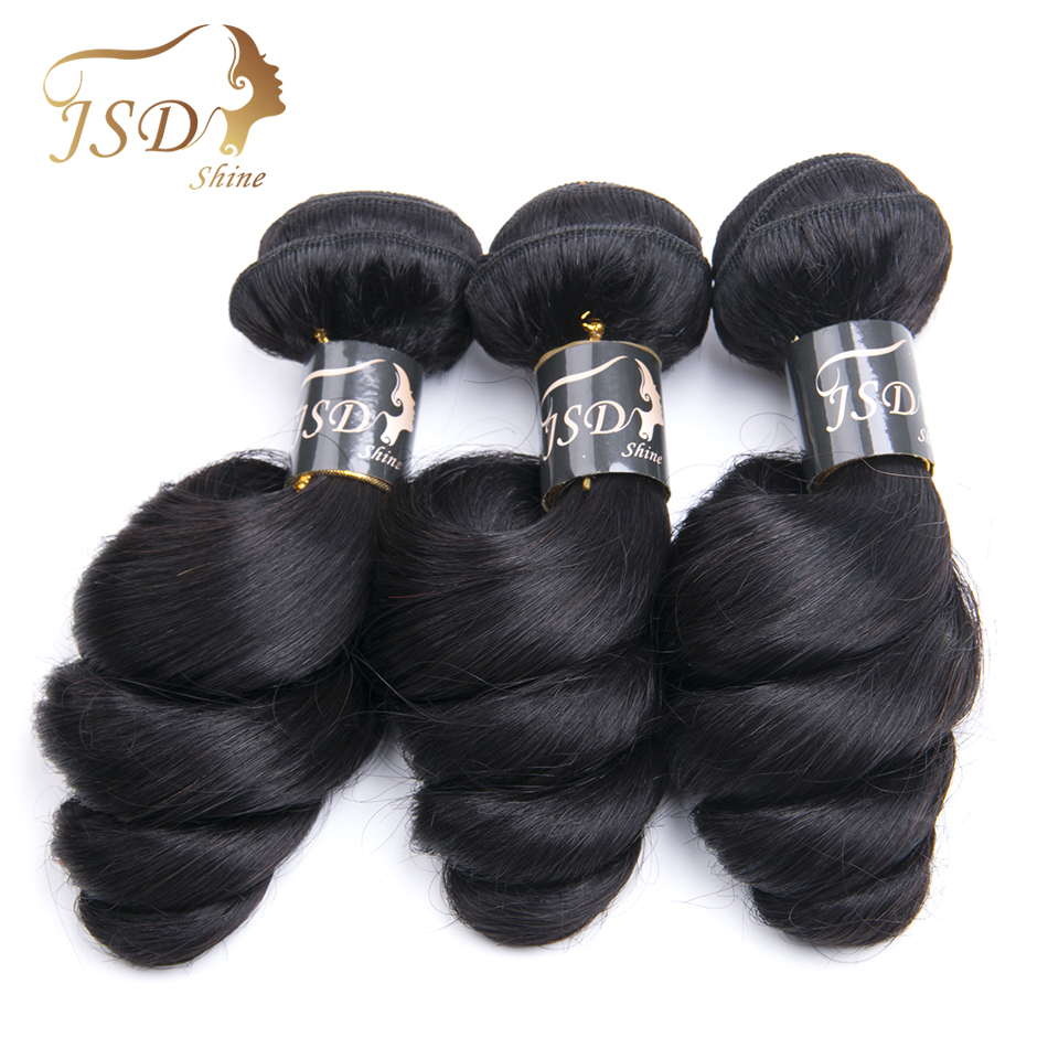 JSDShine Hair Products Malaysian Loose Wave Non Remy Hair Bundles 8-24 Natural Color 100% Human Hair Weave Fast Free Shipping