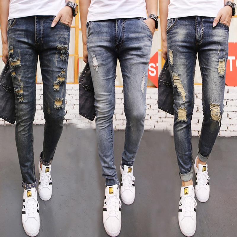 Aliexpress.com : Buy Ripped Jeans for Men Vintage Wash Destoryed ...