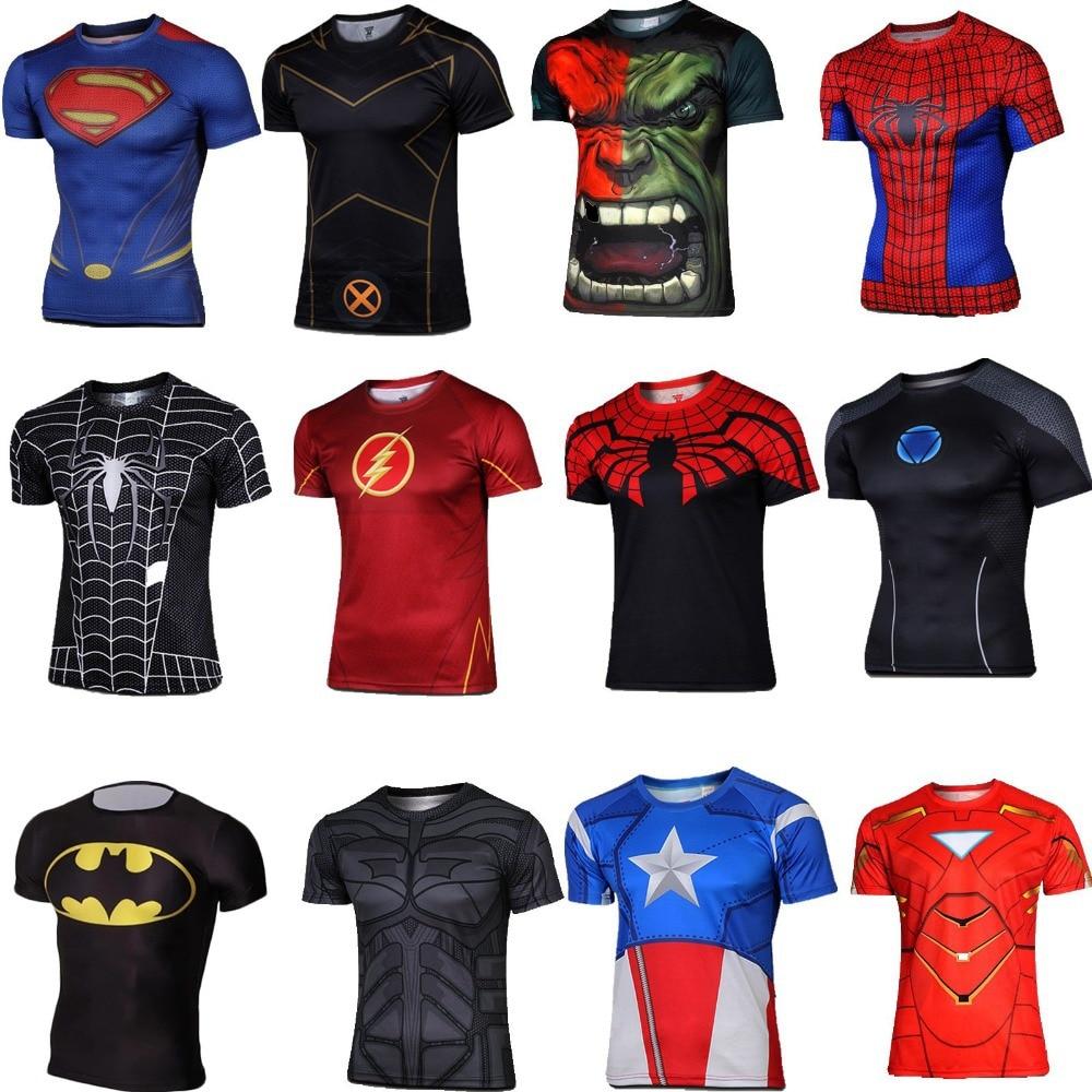 Marvel Super Hero the Avengers Captain America Batman T