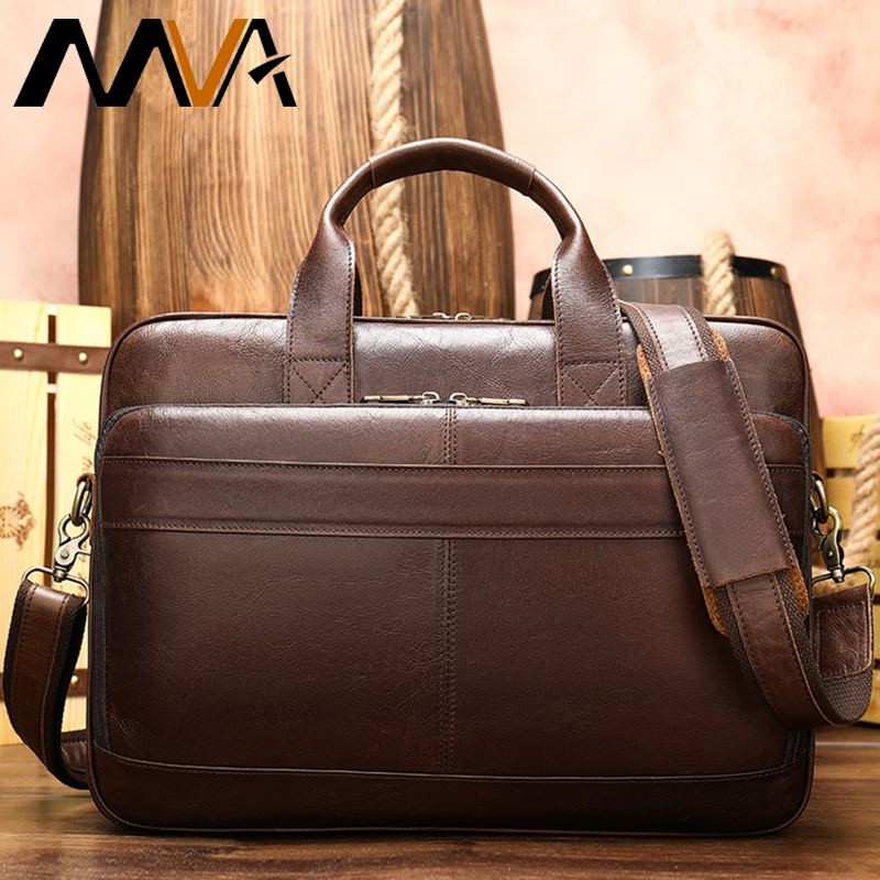 Genuine Leather Mens Bag Casual Shoulder Computer Bag Men Briefcase Laptop Bags Leather Mens Briefcase/office Bags For Men  8841