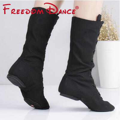 Quality Cloth High Jazz Dance Boot Stage Dance Boots Girls Women Performance Shoes White Red Green Training Shoes Hip-hop