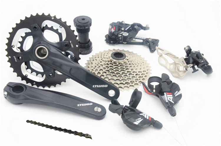 bicycle bike mtb groupset 22speed mountain bike transmission group set west biking bike chain wheel 39 53t bicycle crank 170 175mm fit speed 9 mtb road bike cycling bicycle crank