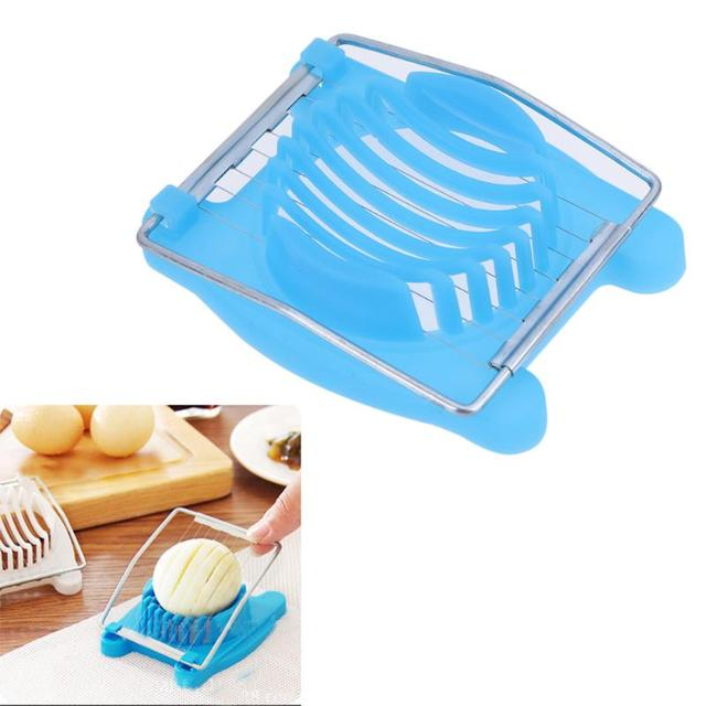 Multifunctional Stainless Steel Egg Slicer Section Cutter Easy To - Egg-kitchen-gadgets
