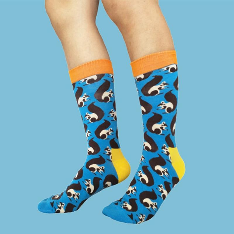 12 Pairs Personality Cartoon Cotton Socks Casual Funny Novelty Men Women Sock Trend Streetwear Mid-calf Couple Socks New Style