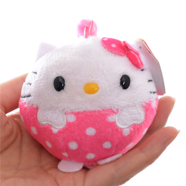 Original TY Beanies Pink Lace Hello Kitty Plush TY collections Chain Bag  Doll Toy 3   New Arrival 2aa8dfe8184