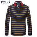Royal Queen's brand 2017 spring new business men's cotton men's casual long sleeve T-shirt striped