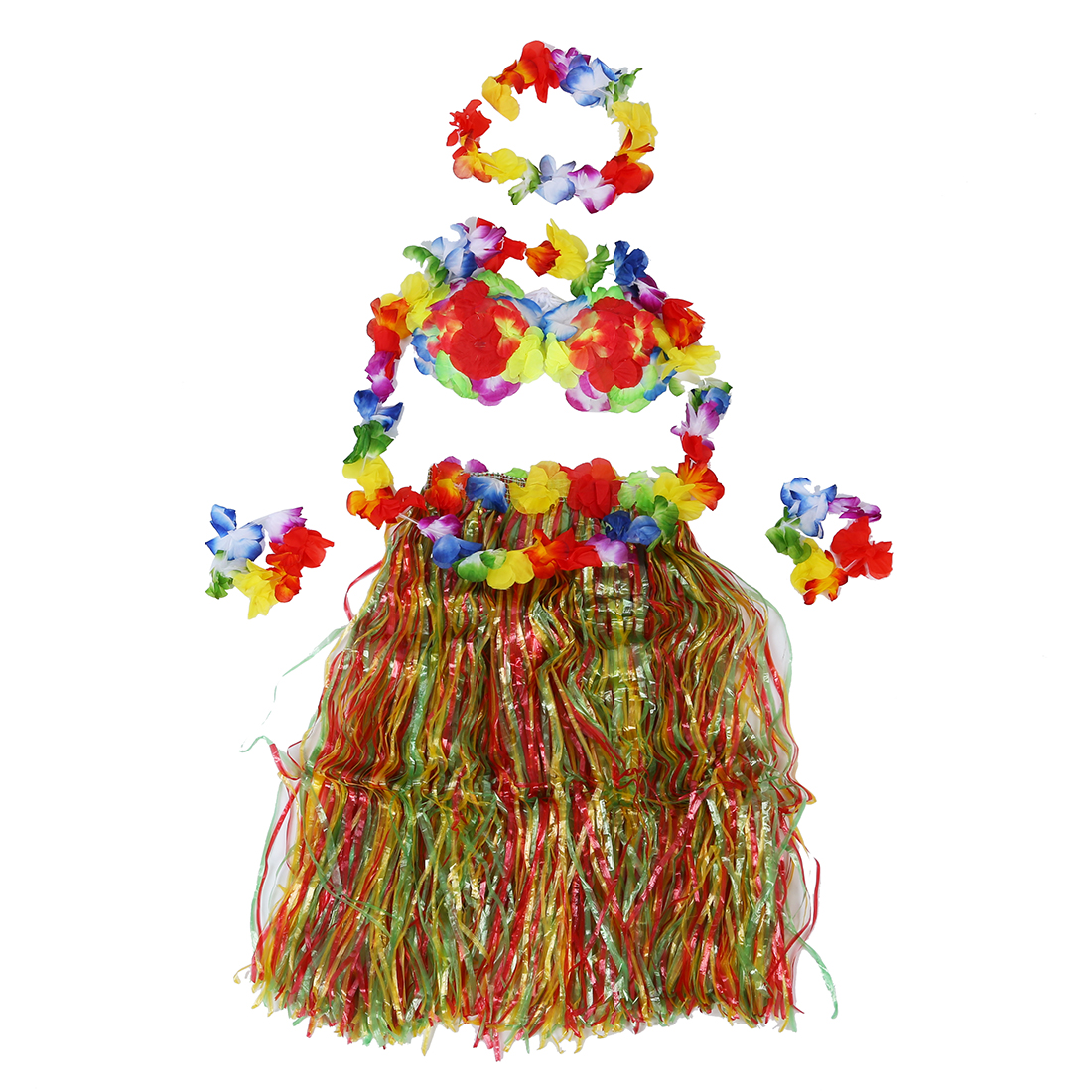 Buy Cheap MYPF-Colorful Hawaiian Tropical Theme Party Hula Luau Grass Dancer dress
