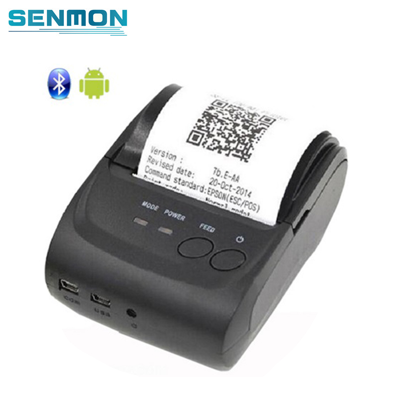 Free SDK Wireless Android Bluetooth Thermal Printer 58mm Mini Bluetooth Thermal Receipt Printer - Bluetooth Android 58mm mini bluetooth printer android thermal printer wireless receipt printer mobile portable small ticket printer page 1