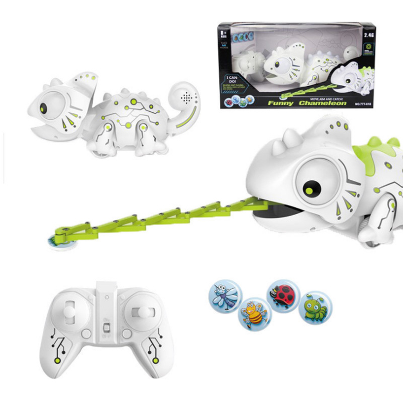 2019 Remote Control Chameleon 2.4GHz Pet Intelligent Toy Robot for Birthday Gift Funny Toy RC Animals  Frog Toys for Children2019 Remote Control Chameleon 2.4GHz Pet Intelligent Toy Robot for Birthday Gift Funny Toy RC Animals  Frog Toys for Children