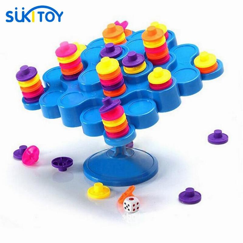 Kid's Desktop Topple balansas Žaidimo blokai žaislų rinkinys žaidimas su vaikais Švietimo minkštas Montessori IQ žaislas vaikams stalo žaidimas
