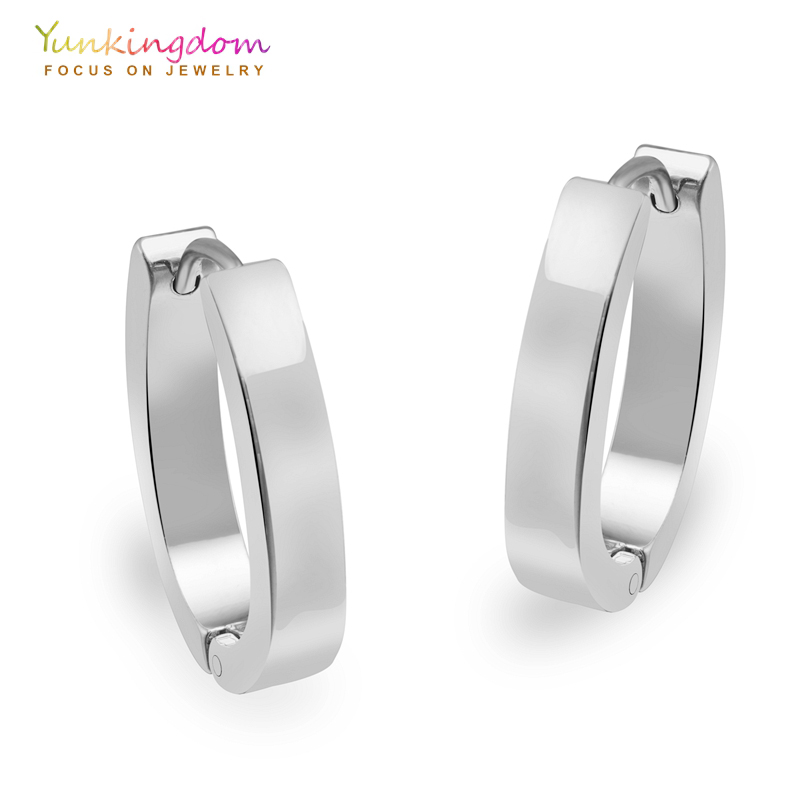 Yunkingdom U shape hoop earrings for women tungsten steel ...