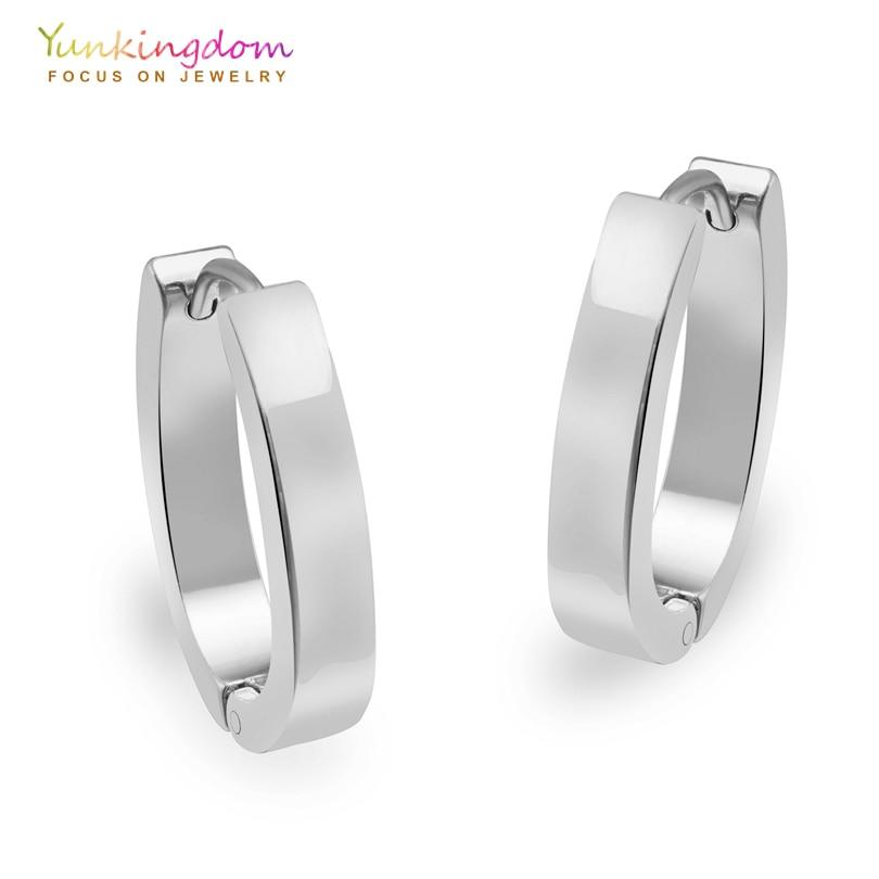 Yunkingdom U Shape Hoop Earrings For Women Tungsten Steel Earring Fashion Ue0035 In From Jewelry Accessories On