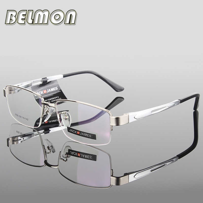 AL-MG Spectacle Frame Eyeglasses Men Computer Optical Eye Glasses Frame For Male Transparent Clear Lens Armacao  de RS276