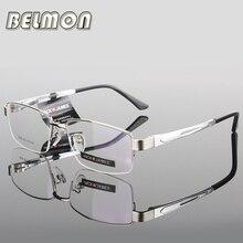 AL MG Brilmontuur Bril Mannen Computer Optische Bril Frame Voor Mannelijke Transparant Clear Lens Armacao De RS276