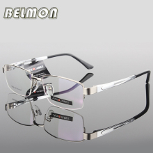 AL-MG Spectacle Frame Eyeglasses Men Computer Optical Eye Glasses For Male Transparent Clear Lens Armacao Oculos de RS276