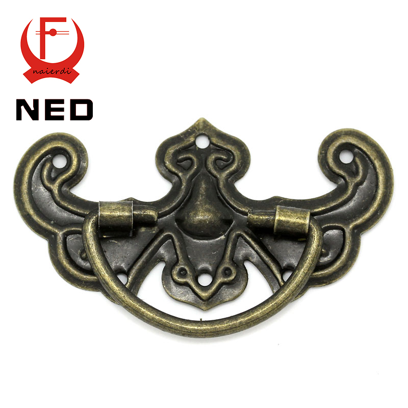 NED 30pcs Classical Bronze Tone Pattern Drawer Cabinet Desk Door Jewelry Box Pulls Handle Knobs With Furniture Hardware