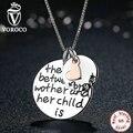 VOROCO 100% Стерлингового Серебра 925 Розовое Сердце Навсегда Любовное Письмо Ожерелья & Подвески Для Женщин Ювелирные Изделия N011