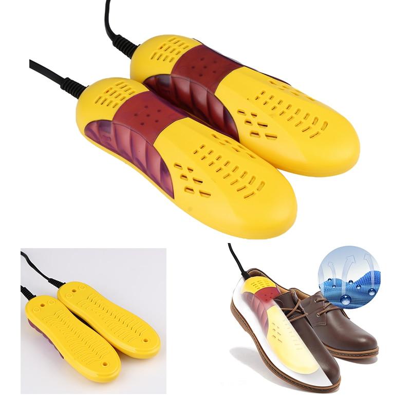 220V 10W Race Car Shape Voilet Light Shoe Dryer Foot Protector Boot Odor Deodorant Dehumidify Device Shoes Drier Heater