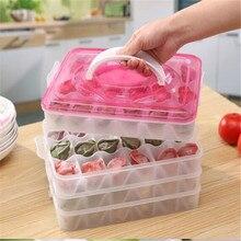 Четыре слоя быстро замороженные пельмени коробка кухня клецки сетки лоток пластиковый контейнер для хранения еды