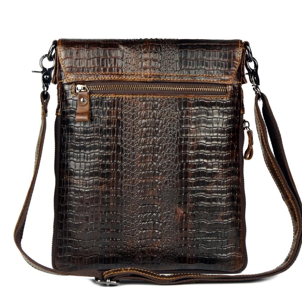 Äkta läderväska för män Crocodile Alligator Mäns Business - Handväskor - Foto 4