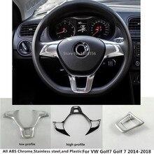 Автомобиль палку крышка рулевого колеса отделкой лампы рамка панели лампа часть капюшон для VW Volkswagen GOLF7 Гольф 7 2014 2015 2016 2017 2018
