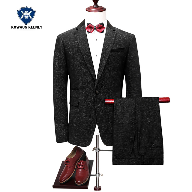 Aliexpress.com : Buy 2017 Slim Fit Groom Tuxedos Jacket Men Black ...
