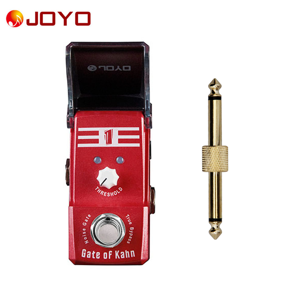 NEW Guitar effect pedal JOYO Gate of Kahn NOISE GATE  Ironman series mini pedal VCA technology  JF-324 + 1 pc pedal connector набор стаканов luminarc аскот 300 мл 6 шт