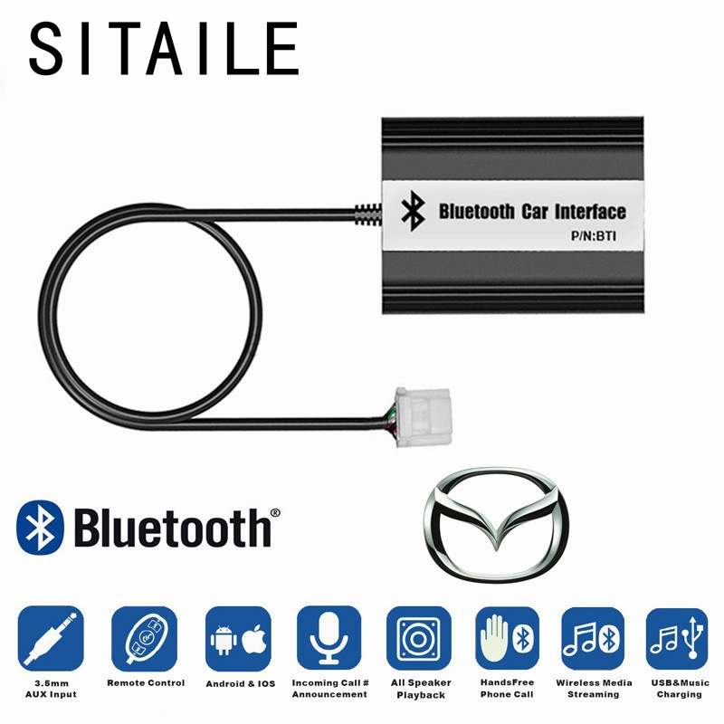 SITAILE Car Bluetooth A2DP MP3 Music Player <font><b>Adapter</b></font> for Mazda <font><b>2</b></font> <font><b>3</b></font> <font><b>5</b></font> 6 MX-<font><b>5</b></font> RX-8 MPV Interface Lossless Sound Quality Car Kit image