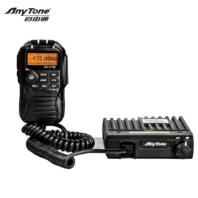 AT 778 Mobile Transeiver Wide Band 400 490MHz 25W Power Amateur/Professional Mode Anytone Car Intercom Radio Base Station-in Walkie Talkie from Cellphones & Telecommunications    1