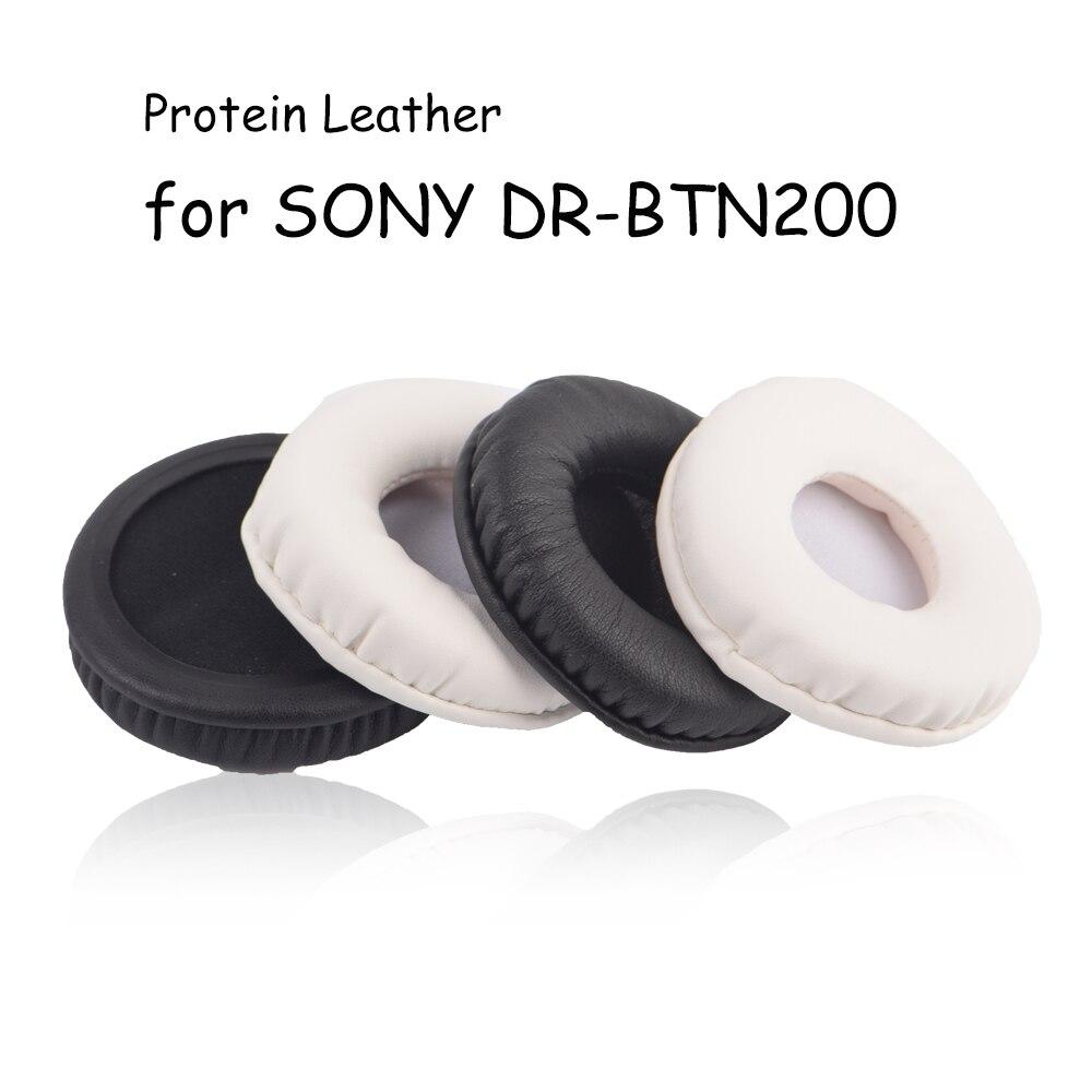 New Black White Substituição da Orelha almofadas Almofadas Capa de Almofada para SONY DR-BTN200 BTN200 BTN 200 Fone De Ouvido fone de Ouvido