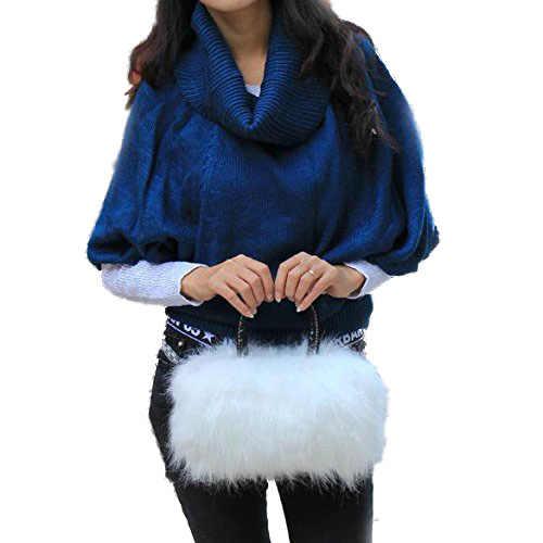 Fggs Musim Dingin Wanita Gadis Cantik Indah Lucu Mewah Bulu Berbulu Tas Desainer Mewah Tas Bahu Bulu Kecil Tas Kurir Selempang