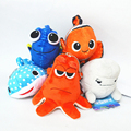5 Pcs/set Finding Dory Plush Marlin Nemo Hank Anime Fish Stuffed Doll Kids Toys Gift